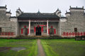 A ancestral temple in pingjiang this picture was taken county of hunan province of china this has history of Stock Image