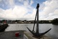 Anchor and bay in Kinsale, Ireland Royalty Free Stock Photo
