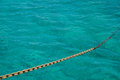 Anchor Chain against on the sea Royalty Free Stock Images