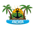 Anchor design concept and summer icons vector illustration Royalty Free Stock Image