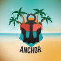 Anchor design concept and summer icons vector illustration graphic Stock Photo