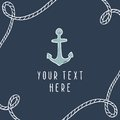 Anchor greeting card template.