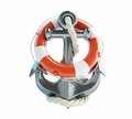Anchor and life buoy on a white background Royalty Free Stock Images