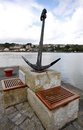 Anchor memory monument in Kinsale harbour Royalty Free Stock Photo