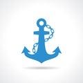 Anchor nautical icon Royalty Free Stock Photo