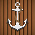 Anchor with rope vector illustration Stock Image