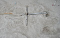 Anchor in the sand on the beach Royalty Free Stock Photo