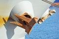 Anchor on ship Royalty Free Stock Photo