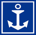 Anchor sign Royalty Free Stock Photo