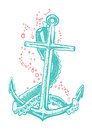 Anchor tattoo and tentacle vector Royalty Free Stock Image