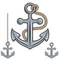 Anchor vector icon. Royalty Free Stock Photo