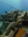 Anchor winch at Thistlegorm Stock Photos