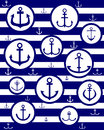 Anchors vector blue silhouettes of in circles against the vest Stock Images