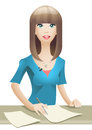 Anchorwoman Royalty Free Stock Photo