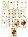Ancien playing cards clubs Stock Photo