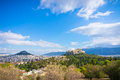 Ancient acropolis athens greece beautiful view of Royalty Free Stock Photo