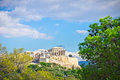 Ancient acropolis athens greece beautiful view of Royalty Free Stock Photography
