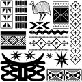 Ancient African pattern Royalty Free Stock Photography