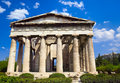 Ancient agora at athens greece travel background Royalty Free Stock Photo