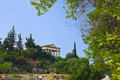 Ancient agora at athens greece travel background Royalty Free Stock Photos