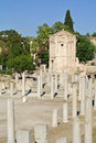 The ancient agora is best known example of an greek athens greece Royalty Free Stock Photography