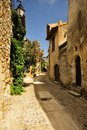 Ancient alleyway castelbouc france a typical old in the village of in the tarn region of southern showing the style of buildings Royalty Free Stock Image