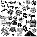 Ancient american design elements Royalty Free Stock Photo