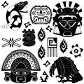 Ancient American pattern Royalty Free Stock Images