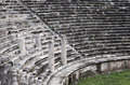 Ancient amphiteater greek amphitheater in turkey abstract architecture Royalty Free Stock Photos