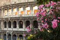 Ancient amphitheater Colosseum in Rome Stock Images