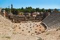 Ancient amphitheater in Myra, Turkey Royalty Free Stock Photo