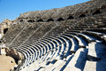 Ancient Amphitheater in Side, Turkey Stock Image
