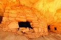 Ancient anasazi cliff dwelling utah canyon Stock Photography