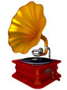 Ancient antiquarian gramophone Stock Image