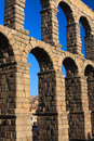 Ancient Aqueduct in Segovia Spain Royalty Free Stock Photography