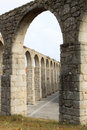 The ancient aqueduct of Vila do Conde, Portugal Stock Photography