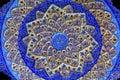 Ancient Arab Islamic Designs Blue Pottery Madaba Jordan Royalty Free Stock Photo