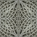 Ancient arabesque stone ornament photo manipulated digital art pattern background in gray tones Royalty Free Stock Image