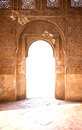Ancient arch door nice in arabian palace alhambra granada spain Royalty Free Stock Image
