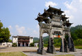 Ancient arch in hongcun Stock Photos