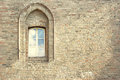 Ancient arched window Stock Photography