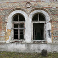 Ancient arched windows Royalty Free Stock Photo