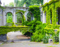 Ancient architecture all in the thickets of greenery Royalty Free Stock Photography