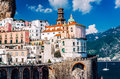 Ancient architecture of Atrani village. Amalfi Coast Royalty Free Stock Photo