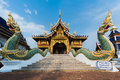 Ancient Architecture in Buddhist temple Royalty Free Stock Photo