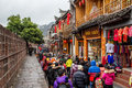 Ancient architecture commercial street fenghuang county in western hunan province in was awarded the title of national historical Stock Photo