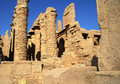 Ancient architecture of karnak temple in luxor egypt Royalty Free Stock Photos