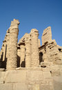 Ancient architecture of karnak temple in luxor egypt Royalty Free Stock Images