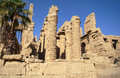 Ancient architecture of karnak temple in luxor egypt Stock Image