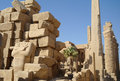 Ancient architecture of karnak temple in luxor egypt Royalty Free Stock Photo